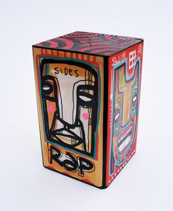 Funk Totem Part No. 171 - Original Mixed Media Block - Vol. 7