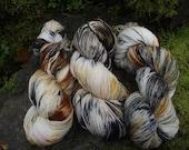 Handpainted sock yarn, fingering yarn, Superwash Merino yarn 100 grams-Fox