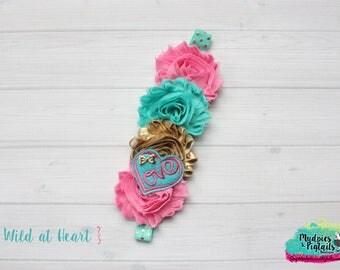 Valentine's day Planner band { Wild at Heart } Love, aqua, gold bubblegum pink, glitter, planner accessories bible journaling, baby headband