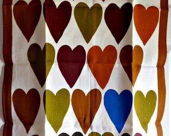 Vintage Hearts Kitchen Towel-Designer Ken Scott