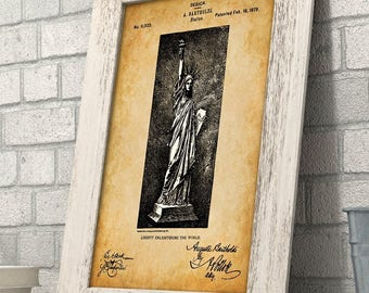 The Statue of Liberty - 11x14 Unframed Patent Print - Great Gift for History Lovers