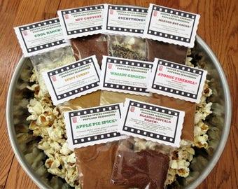 Popcorn Seasoning, Mix, Popcorn Flavor, Gourmet Popcorn Mix, Popcorn Mix, Spicy Popcorn, Popcorn, Birthday Gift, Gifts for Him, Salt Free