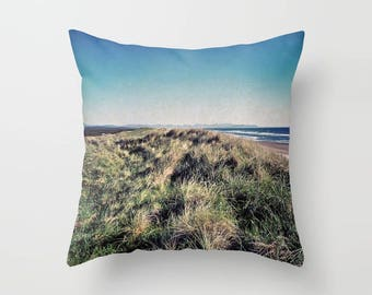 Ombre Sky Pillow, Beach Pillow, Oregon Coast throw pillow, northwest landscape, decorative bedding, hotel bedding, square pillow, surfing