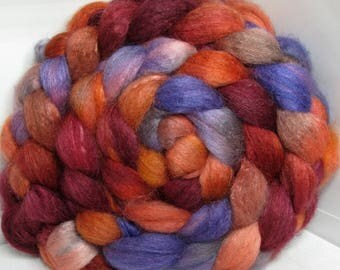BFL/Cashmere/Tussah 50/25/25 Roving Combed Top - 5oz - Clouds Racing 1