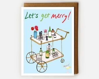 Funny Christmas Card, Funny Holidays Card, Naughty Christmas, Be Merry, Christmas Humor, Holiday Drinking, Atheist Christmas Card