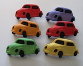 Car Buttons, craft, sewing, scrapbooking, Volkswagen, Beetle