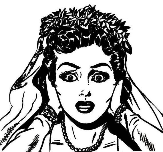 "stressed out bride png clipart jpg clip art printable graphics images digital download wedding digital stamp artwork 8"" x 8"""