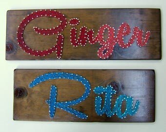 10 letters - Modern String Art Wooden Name Tablet
