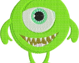 SALE 65% OFF Cute Little Monster Cyclops Machine Embroidery Design 4x4 and 5x7 Instant Download