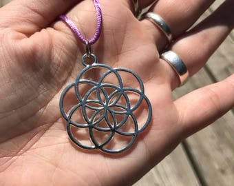Seed of Life Pendant (flower of life, sacred geometry)