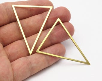 3 Raw Brass Triangles (53x53x40mm) Bs-1307