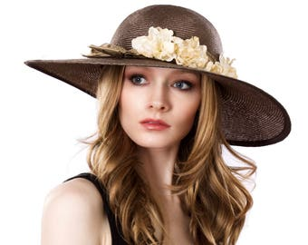 Kentucky Derby Straw Hat Mother's Day Spring Accessories Great Gatsby Hat Picture Hat Garden Party Hat Church Hat Formal Hat Spring Fashion