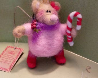 Pippi the Porcupine Felted Wool Ornament -  NEW for 2018