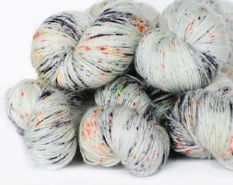 Haunted 463 yards on 'Posh' Sock Yarn/ 4 ply merino, hand painted sprinkle