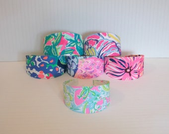 """Preppy 3"""" Wide Lilly Pulitzer Colorful Fabric Headband in 6 Prints"""