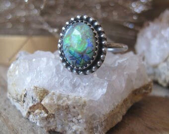 Monarch Opal Ring, Statement Ring, Gift for Her, Cocktail Ring, Boho Ring
