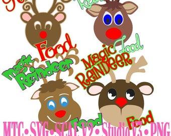 Magic Reindeer Food Bundle of 4 Embellishment Cut Files MTC SCAL SVG File Format traceable JPeG