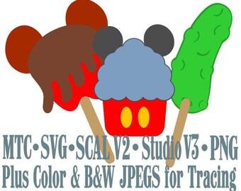 Amusement Park Embellishment Mouse Treats #05 Digital ScAL MTC SvG Cut Files JPEG PNG