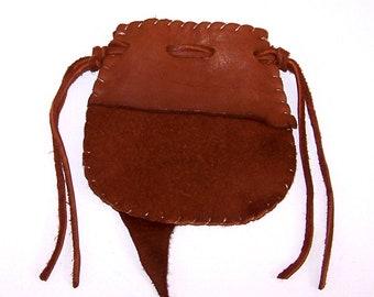 Beautiful Deerskin Medicine Bag ..RUST