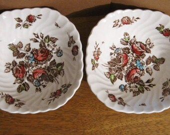Johnson Brothers Devon Sprays Cereal Bowls - Made in England - Set of 2