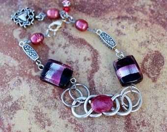 Quartz and Pearl Bracelet