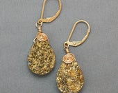 Wire Wrapped Gold Druzy E...