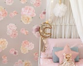 Beautiful Blooms Floral Wall Sticker Decal Wall Stickers - Flower, floral, girls bedroom peonies rose