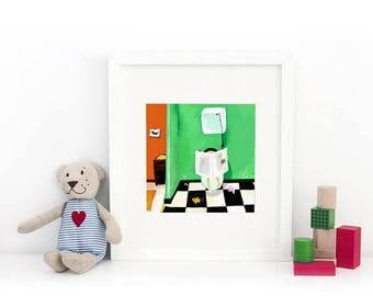 10% Off - Summer SALE On the Toilets - Deluxe Edition Print