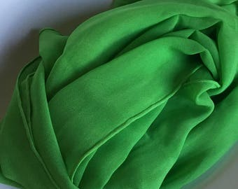 Green Silk Shawl - Apple Green Silk Chiffon Shawl - Low Shipping Costs - Perfect for Weddings
