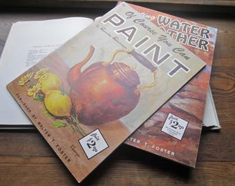 2 Vintage Walter Foster ~ How To Paint Books ~ Gallery Artists ~ How To's and Oversize Prints ~ Stills and Landscapes ~ Water and Weather