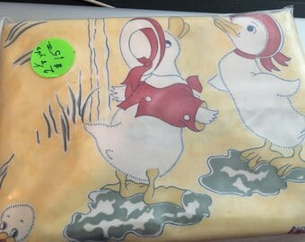 2 1/8 yards of Vintage Replica Puddle Duck Fabric