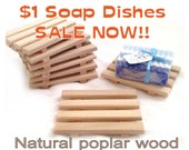 20 natural wood soap dishes 1.00 EACH - natural poplar wood handcrafted in USA