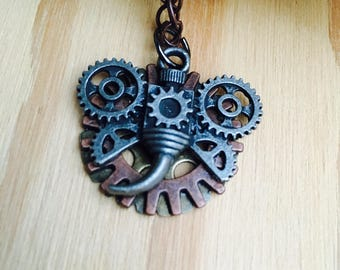 Steampunk dragonfly necklace, insect jewelry, steampunk jewelry, handmade jewelry, steampunk necklace, dragonfly necklace
