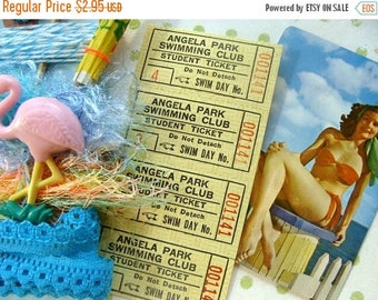 ONSALE Vintage Swimming Beach Finger Pointing Tickets