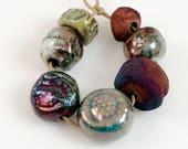 Sumptious mix...Raku, Artisan, beads