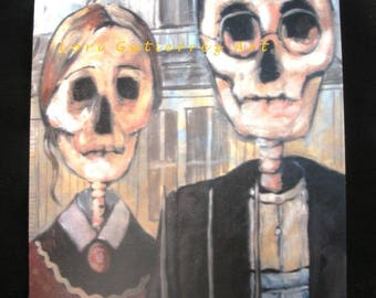 "Day of the Dead ""American Gothic"" - Original Art by Lori Gutierrez!!"