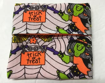 MamaBear Tuckables Pouch, Small (4 x 4) - Cloth Menstrual Pads, Wipes, Snacks, & more - Trick or Treat