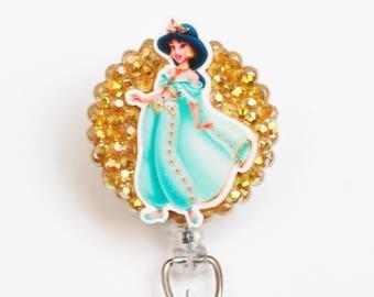 Disney's Princess Jasmine ID Badge Reel - Retractable ID Badge Holder - Zipperedheart