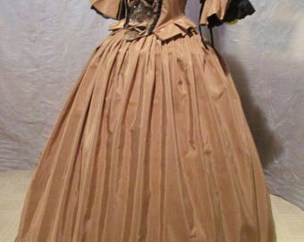 Gold w/Black 'Gold Deluxe' - Marie Antoinette / Pompadour/Princess Court  Ball Gown Dress  FREE SHIPPING!
