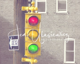 Old Traffic Light Fine Art Photography Print, man cave