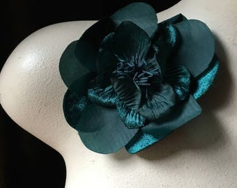 Teal Flower for Bridal, Ballet, Sashes, Shoes, Headbands,  Headpieces, Corsages