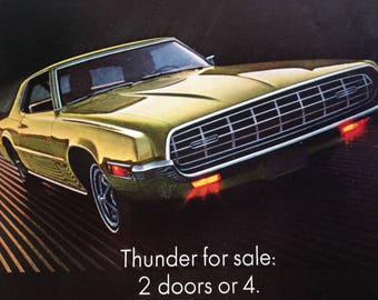 1968 Ford Thunderbird and Airstream Travel Trailers Advertisement