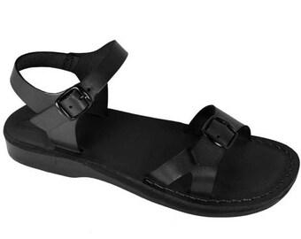 15% OFF Black Billa Leather Sandals For Men & Women - Handmade Sandals, Leather Flats, Leather Flip Flops, Unisex Sandals, Brown Leather San