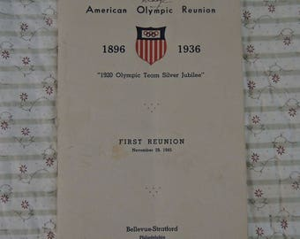 Olympic Reunion Program - Autographed Program - 1936 Olympics - REDuCED