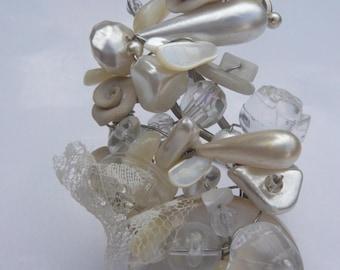 Sissi steel strand pearl bracelet