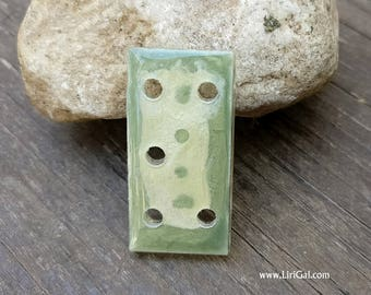 Crystal Resin Square Pendant Spacer Connector Bead Cab 40x20mm (C73)