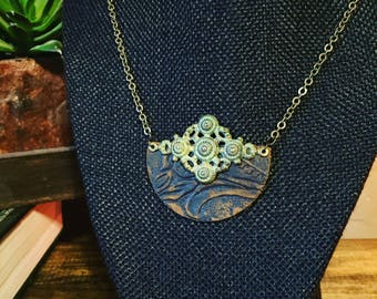 Leather Patch Necklace
