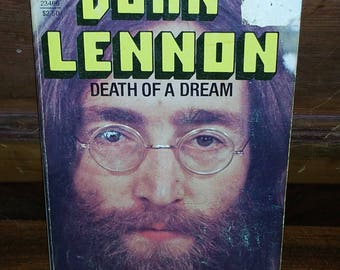 John Lennon Death Of A Dream Vintage Paperback Book