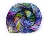 """Hardcore Sock Yarn - """"Acid Rainbow"""" - Handpainted Superwash Merino - 463 Yards"""