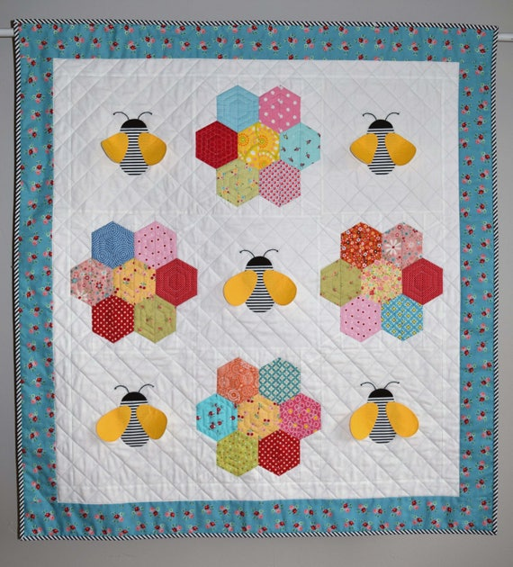 PDF Baby Bee Quilt Pattern in PDF for Digital Download : bee quilt pattern - Adamdwight.com